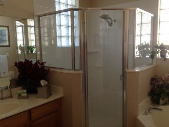 King master ensuite stand up shower!