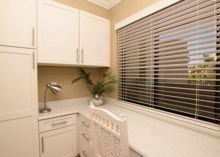Study/Office area with Cambria Quartz countertops