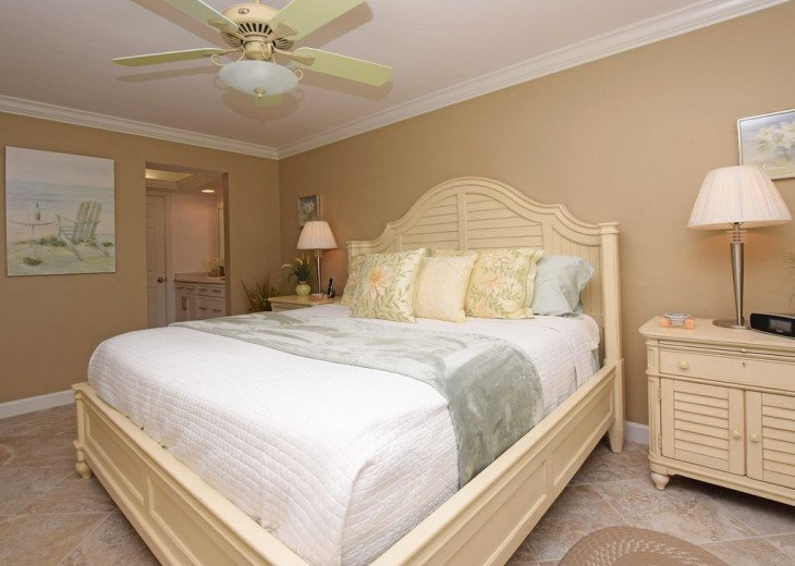 Master Bedroom with private entry to lanai Paula Deen furniture