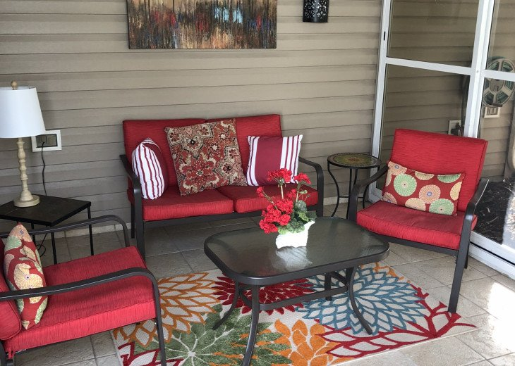 Relaxing screened in porch
