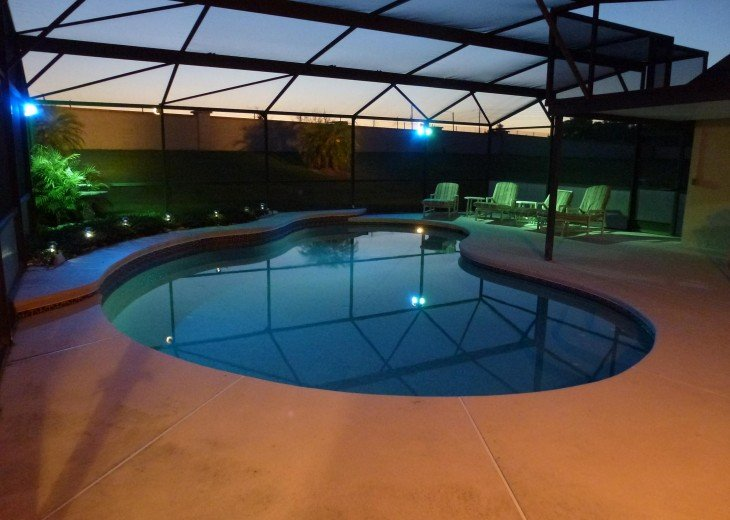 Your own private pool at night!