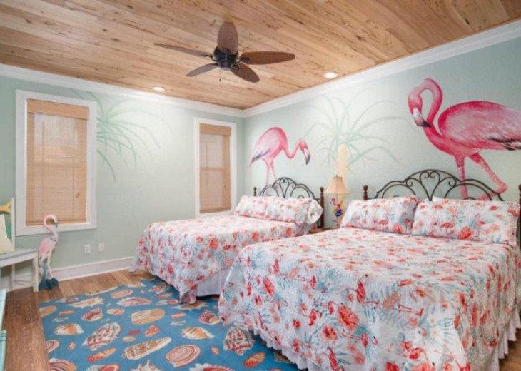 Second floor suite featuring 2 queen beds