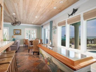 Enjoy your very own private wet bar offering gulf views