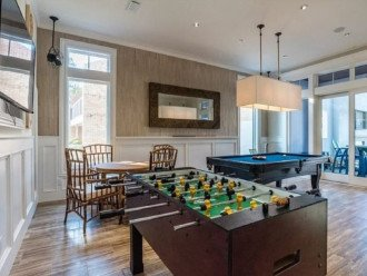 1st Floor Game Room feat. Wet Bar, Foosball, and Pool Table