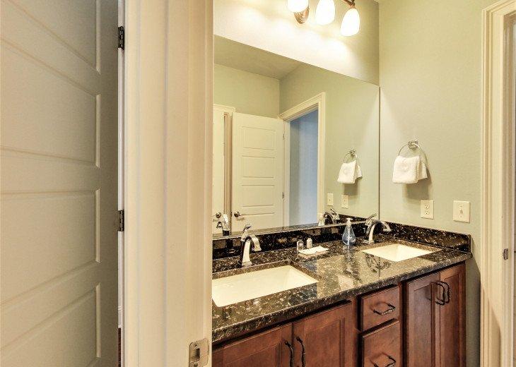 2nd floor Jack and Jill bathroom with double vanity