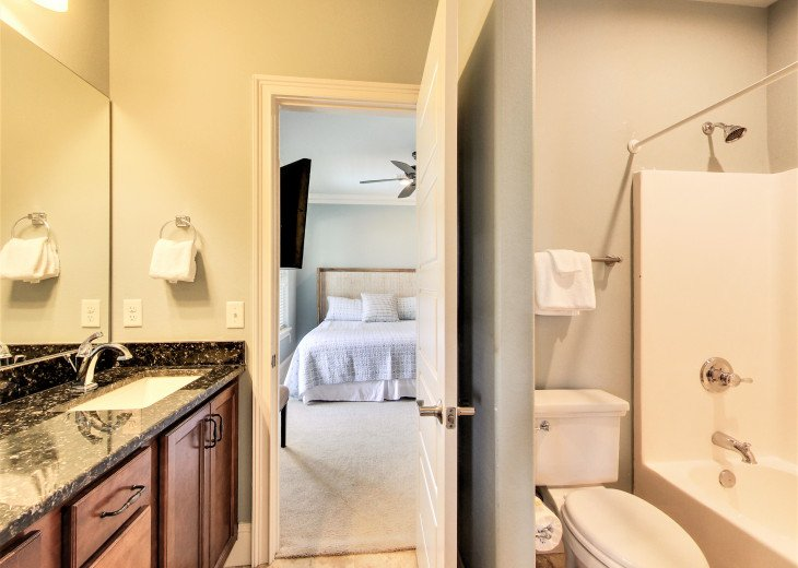 3rd floor Jack and Jill bathroom with double sink