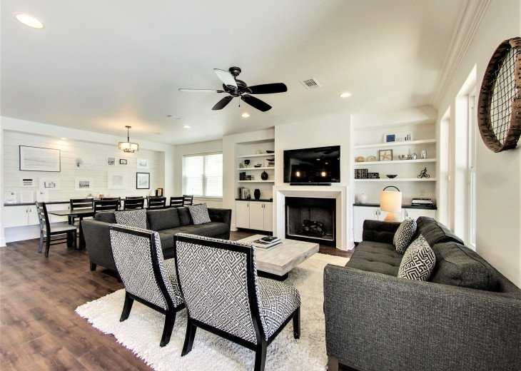 Airy and Open Concept Living, Dining area with modern touch