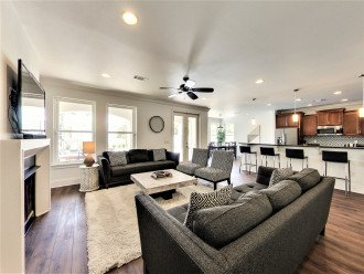 Bright and Open Concept Living, Dining, Kitchen ares with clean modern feel