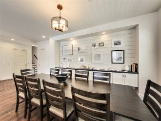 Beautiful Shiplap Wall in the Formal Dinning Room Area