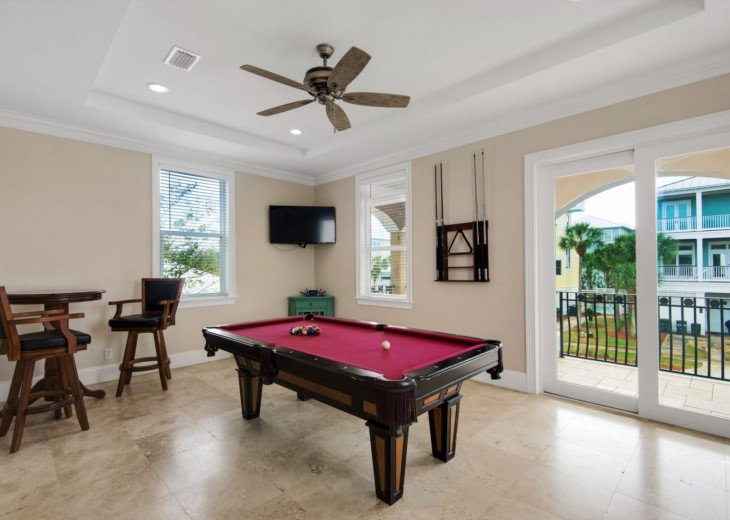 Second Floor Game Room with Private TV