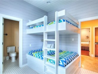 Third Floor Bunkroom with Full Over Full Bunk and Twin Over Twin & Private Bath