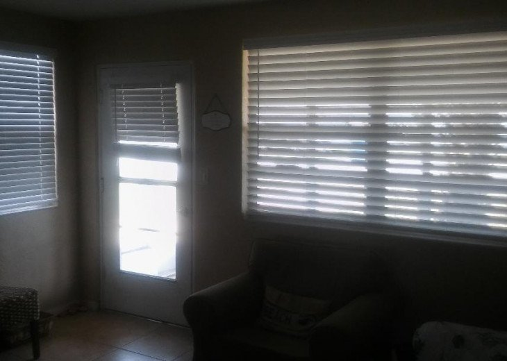 Upgraded vertical blinds to wood blinds