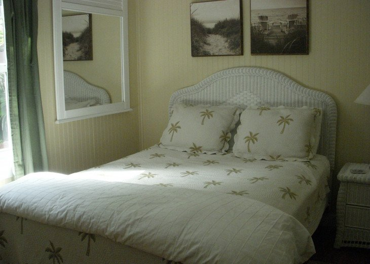 Bedrooms have linens, pillows, blankets and comforter