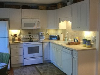 Refrigerator, Stove, Microwave and Dishwasher