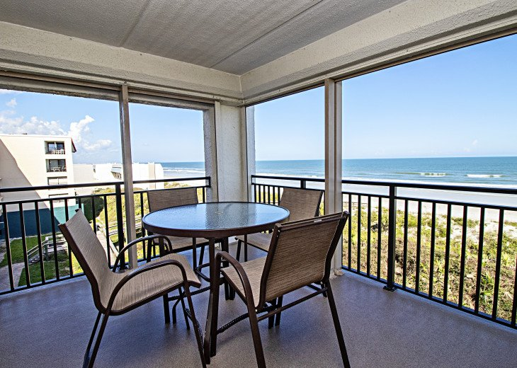 Oceanfront Balcony with Hurricane Shutters