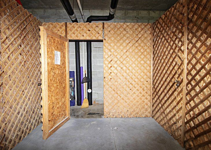 305 Storage Shed for Tenant Use in South End of Garage