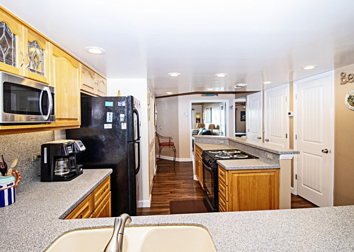Large Open Kitchen with All Major and Small Appliances & Pantries