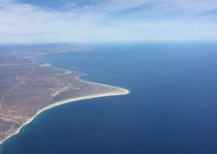 Aerial View of coastline at Windjammer 305 & St. Augustine