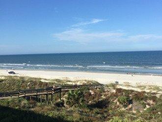 View from 305 of beach walkway and Crescent Beach Atlantic Ocean