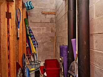 Lots of Beach Items for Tenant Use in 305 Storage Shed