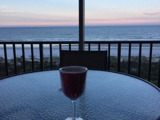 Happy Hour at Windjammer 305 from Oceanfront Balcony