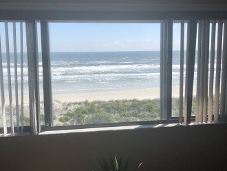 View of Crescent Beach from Living Room Picture Window