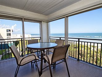 Oceanfront balcony with sliding doors from master & living room