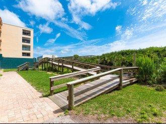 View below 305 Balcony of Patio Entrance to Ramped Beach Walkway & Showers