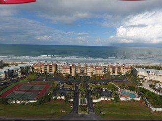 Drone Picture of Windjammer Condo looking East toward Atlantic Ocean