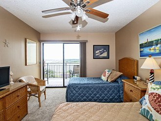 2nd bedroom view of balcony and Intracoastal