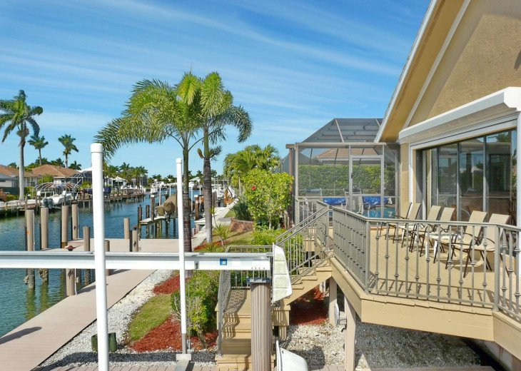 ~ Spacious Waterfront 4 Bedroom with Large Heated SW Facing Pool ~ #26