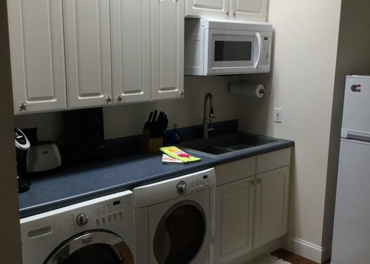 Upstairs laundry/efficiency kitchen