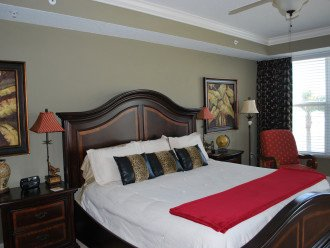King bed in the master bedroom