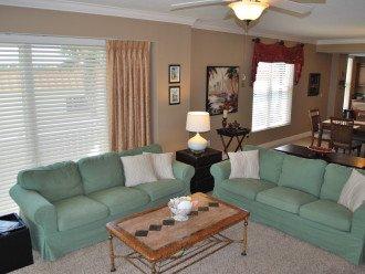 Comfortable, full sized sofas