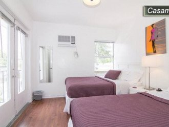 2nd Bedroom with 2 Full beds/ sleeps 4. Apt now offers Central AC not wall units