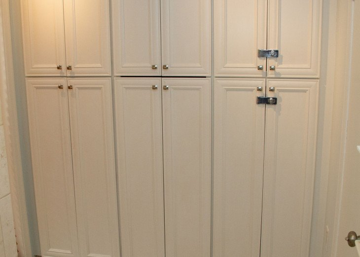 Master Bathroom - storage and supplies