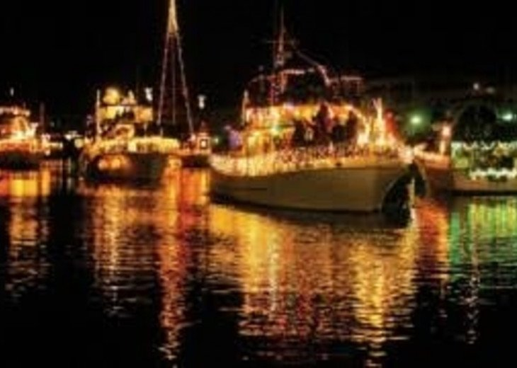 Lighted Boat Parade during the holidays!