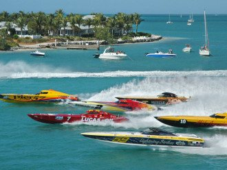 Power boat races in Key West