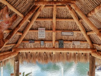 There is something special about sitting under a Tiki Hut! You will love it!