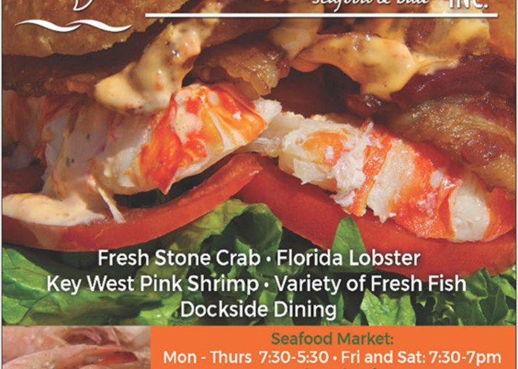 Key Largo Fisheries Seafood Market, just down the street!
