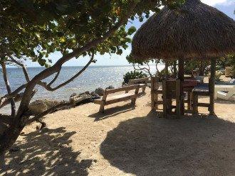 Sandy beach on resort property