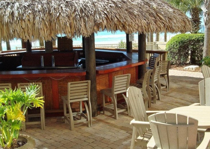 Calypso Resort Tiki Bar is located at the beach access & between the 2 pools