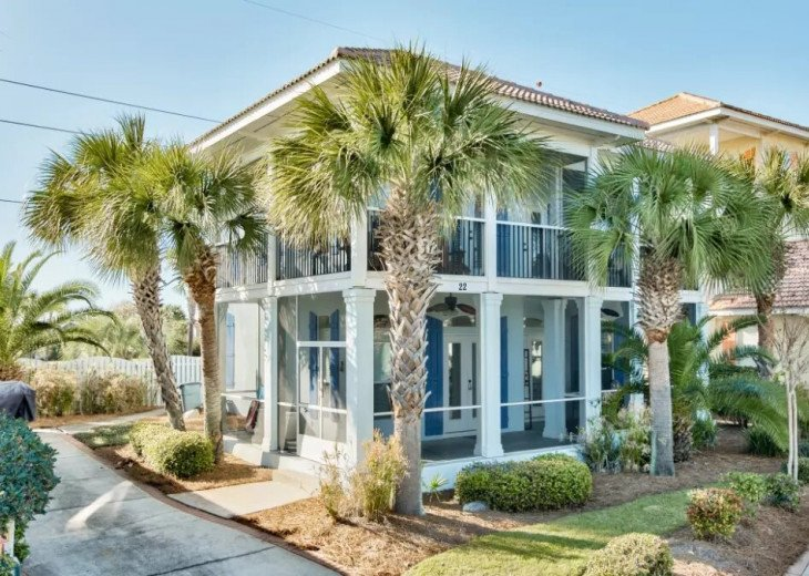 Beautiful Blue Bungalow - Sleeps 9 Emerald Shores Destin/Miramar Beach FL #1