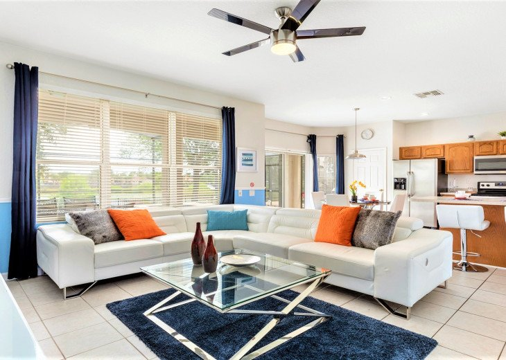 ❤️*Newly Renovated* Luxury 6BR Windsor Hills Pool Villa, 2 miles to Disney #15