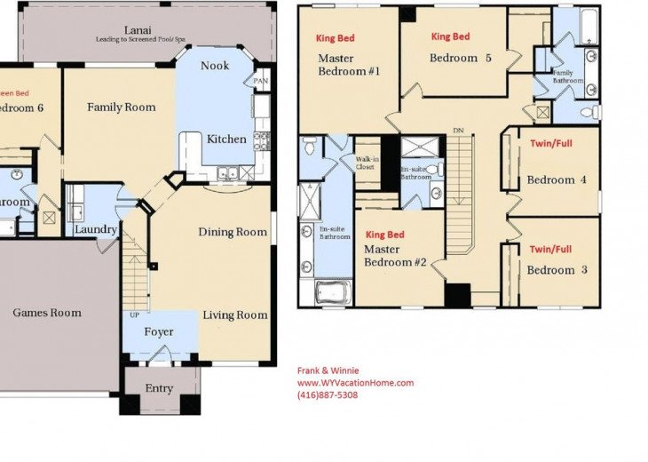 *Best Location* Luxury 6BR Windsor Hills Pool Villa, WiFi, AC Game Room #65