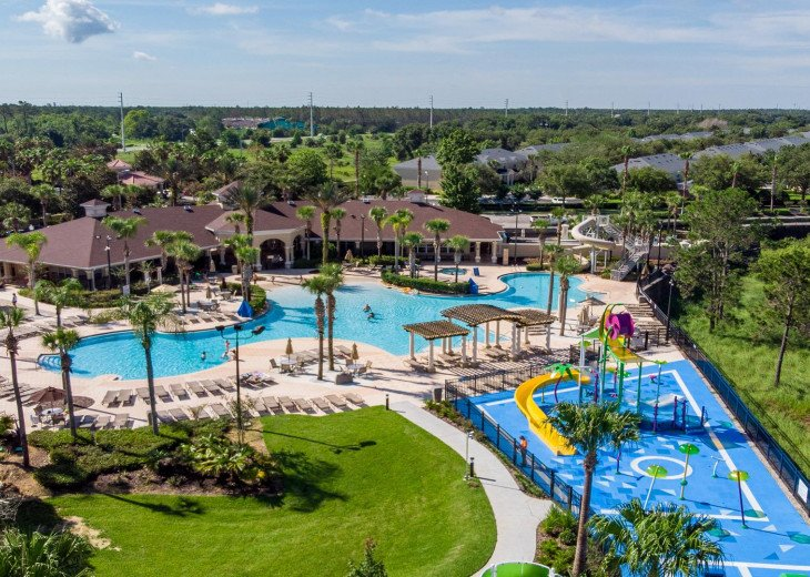 ❤️*Newly Renovated* Luxury 6BR Windsor Hills Pool Villa, 2 miles to Disney #42