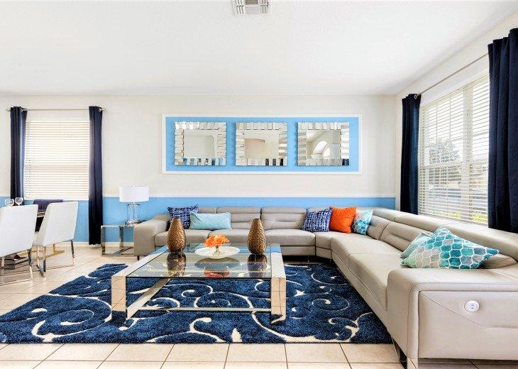 ❤️*Newly Renovated* Luxury 6BR Windsor Hills Pool Villa, 2 miles to Disney #17