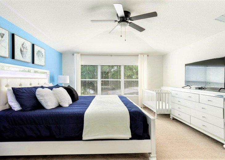 ❤️*Newly Renovated* Luxury 6BR Windsor Hills Pool Villa, 2 miles to Disney #13