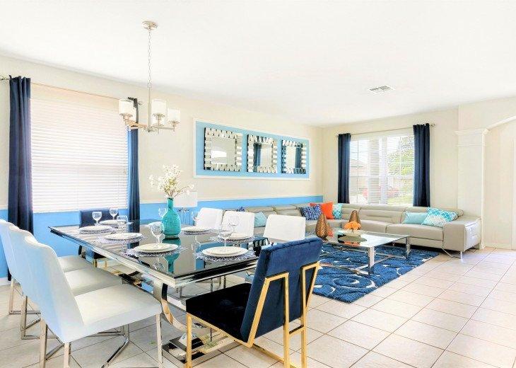 ❤️*Newly Renovated* Luxury 6BR Windsor Hills Pool Villa, 2 miles to Disney #22