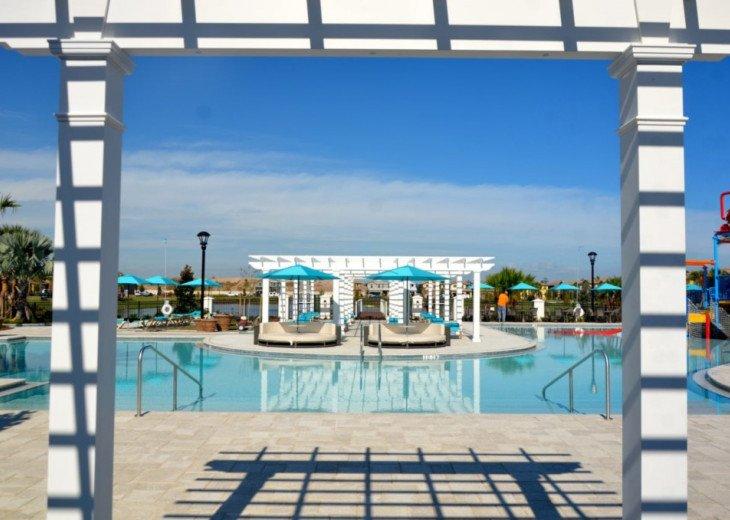 Modern 5BD 4BA Windsor at Westside Private Pool & Spa Games Room #44